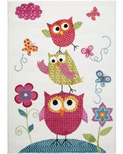 Tapis enfant Noa Kids Owls Family Multicouleur