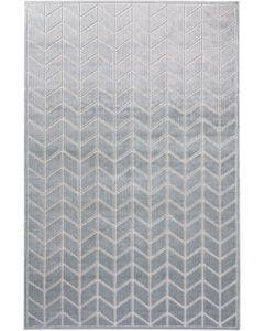 Tapis en viscose Woody Gris clair