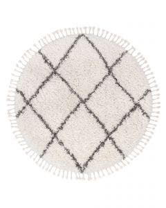 Tapis à poils longs rond Ebba Beige