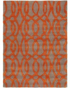 Tapis de laine Matrix Orange