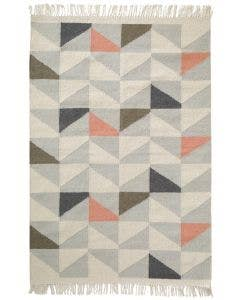 Tapis de laine Stem Gris/Orange