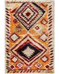 Tapis à poils longs Tika Multicouleur/Orange