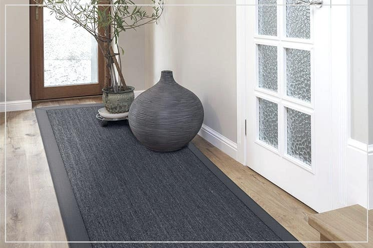 decorate hallway with rugs